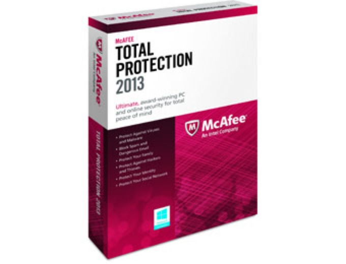 Free after Rebate: McAfee Total Protection 2013