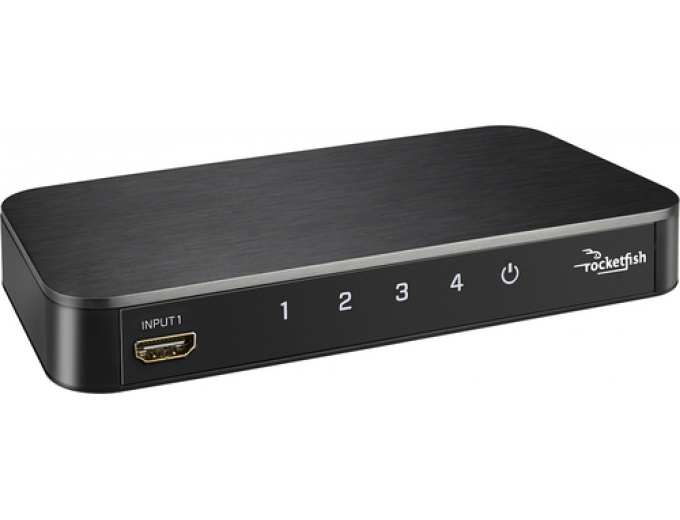 Rocketfish 4-Port 4K HDMI Switch Box