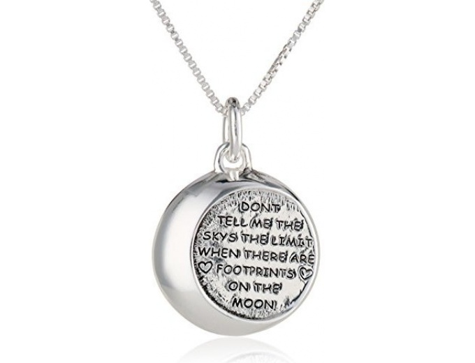 "Silver ""...Footprints on the Moon"" Necklace"