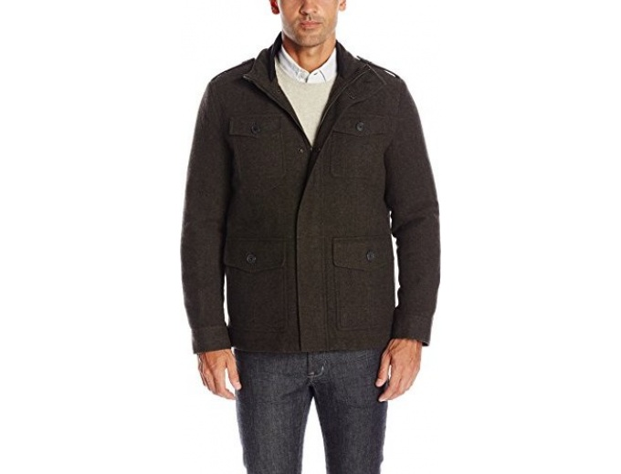 Dockers Men's Wool Fancy Military Jacket