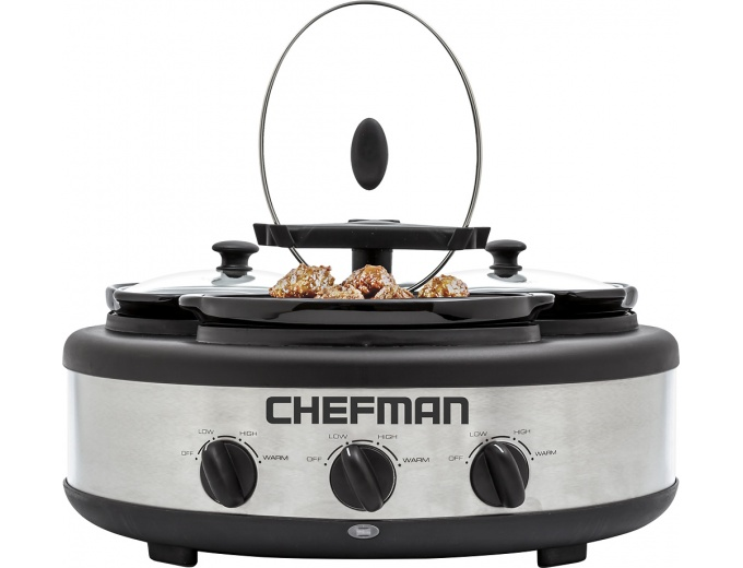 Chefman 4.5-Quart Slow Cooker - Stainless