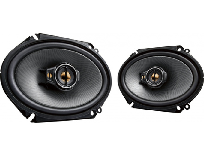 "Kenwood 6"" x 8"" 3-Way Car Speakers (Pair)"