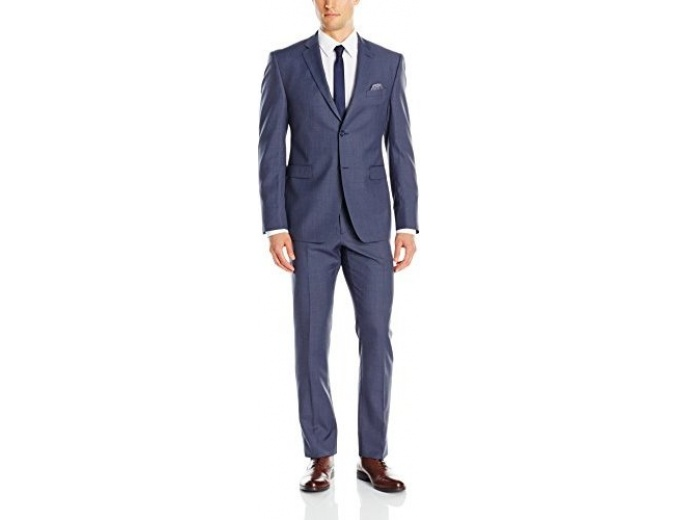 Original Penguin Slim Fit Sharkskin Suit