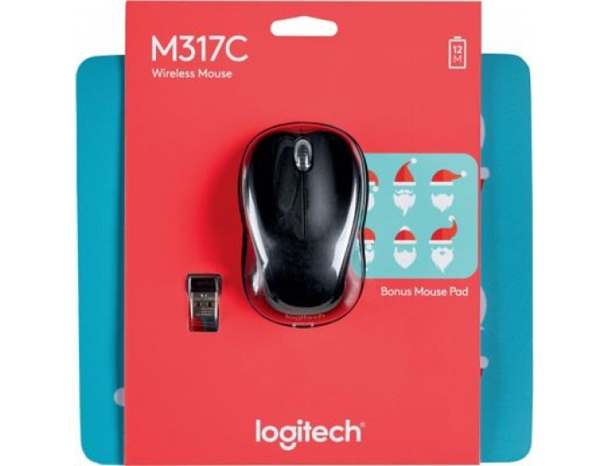 Logitech M317 Wireless Mouse with Mouse Pad