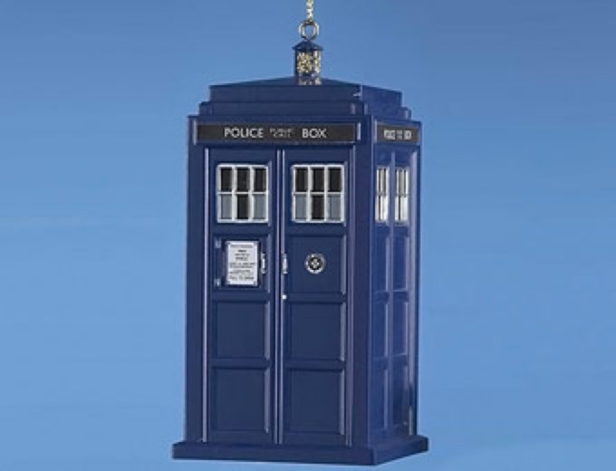 "4.5"" Doctor Who Tardis Blow Mold Ornament"