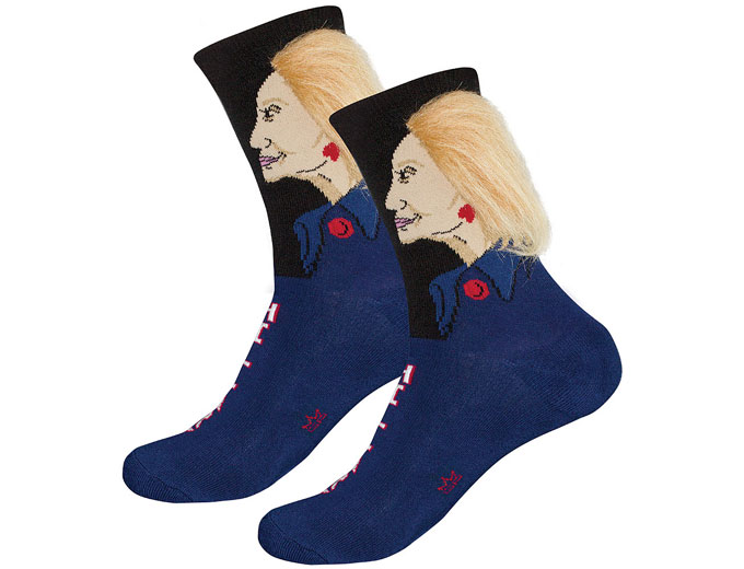 Hillary Clinton Hair Socks
