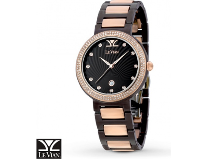 $1,186 off Le Vian Chocolate Ceramics Women's Watch