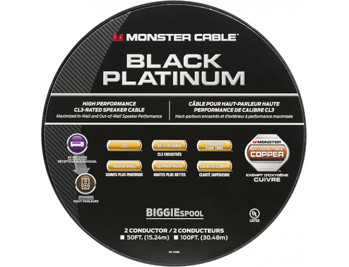 100 Off Monster Black Platinum Xp 100 In Wall Speaker Cable