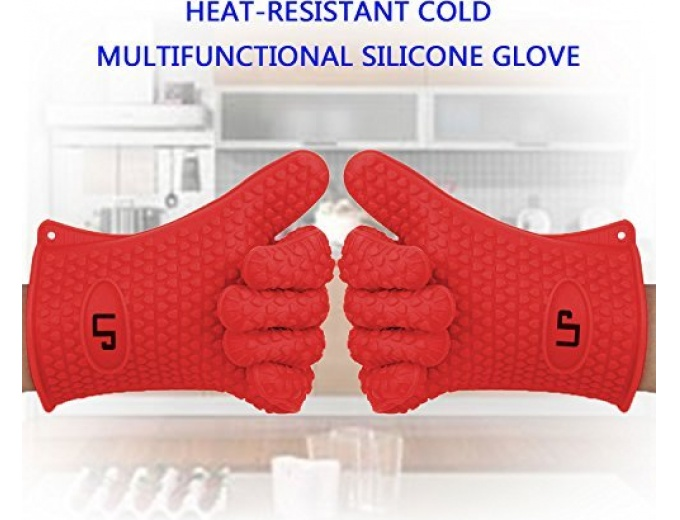 Silicone Heat Resistant BBQ Gloves (Pair)