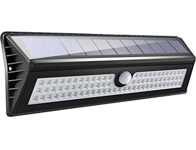 solar powered motion sensor security lights. Black Bedroom Furniture Sets. Home Design Ideas