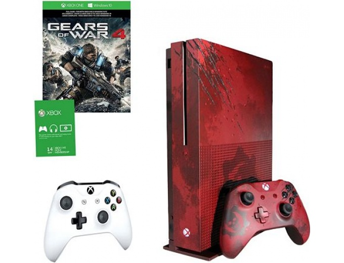 Xbox One S 2TB Gears of War 4 Red LE Console