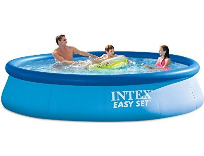 65 off intex 12ft x 30in easy set pool set. Black Bedroom Furniture Sets. Home Design Ideas