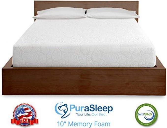 30 Off Purasleep 10 Memory Foam Mattress Twin 274
