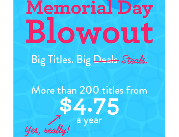DiscountMags Memorial Day Magazine Sale