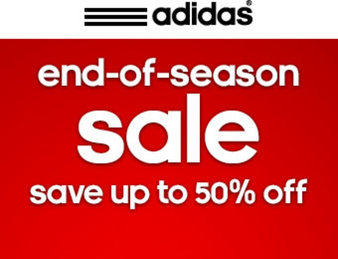 Adidas End of Season Sale - Up to 50% off