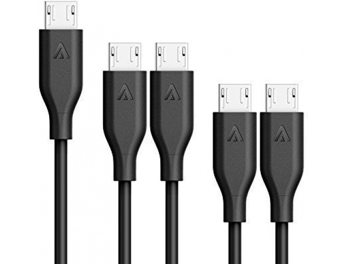 Anker [5-Pack] PowerLine Micro USB Cables
