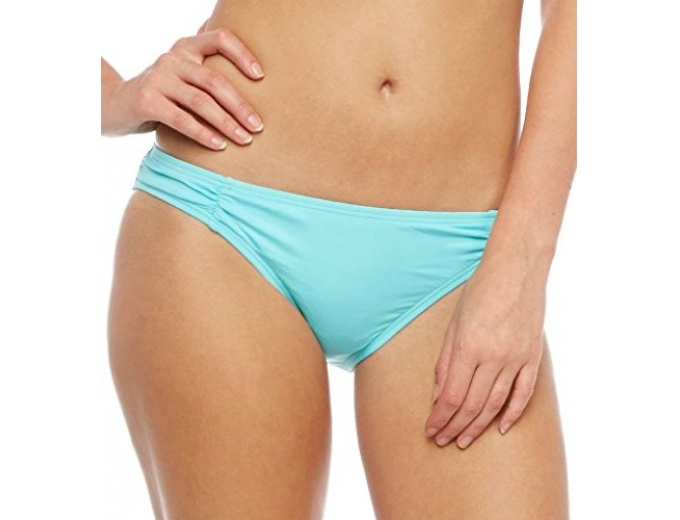 COCO RAVE Women's Solid Shirred Side Bottom