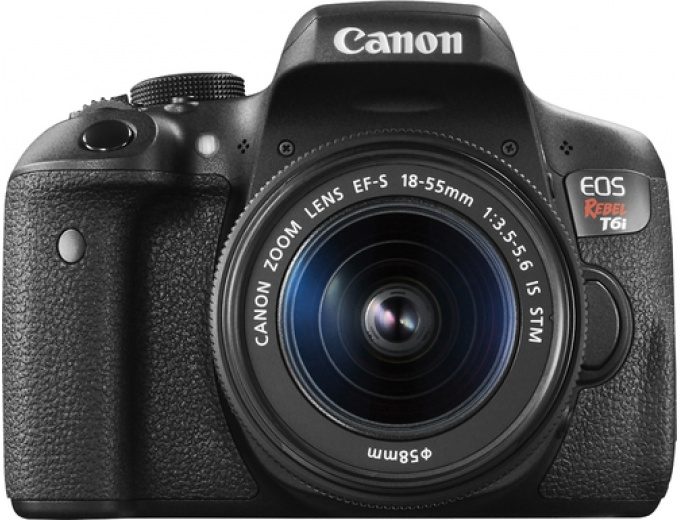 Canon EOS Rebel T6i DSLR Camera with Lens