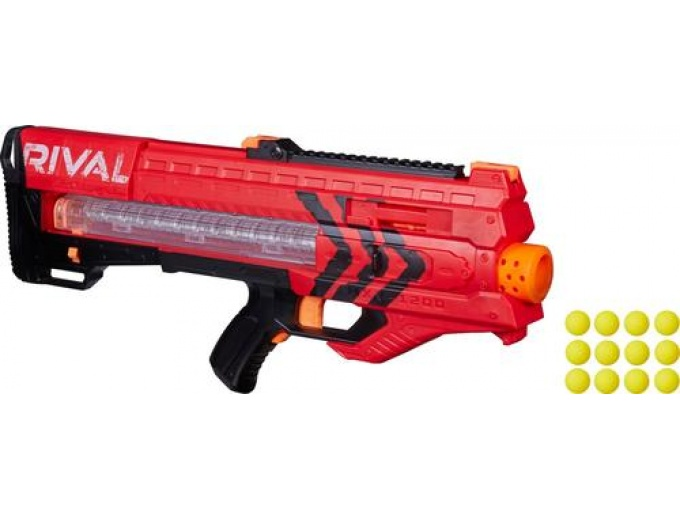 Today only, BestBuy.com is offering 50% Off Select NERF Rival Blasters with  prices as low as $22.49 (reg. $45). Here are two that I spotted: