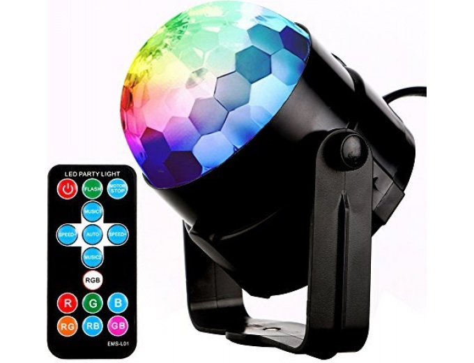 Multicolor Rotating Disco DJ Lights