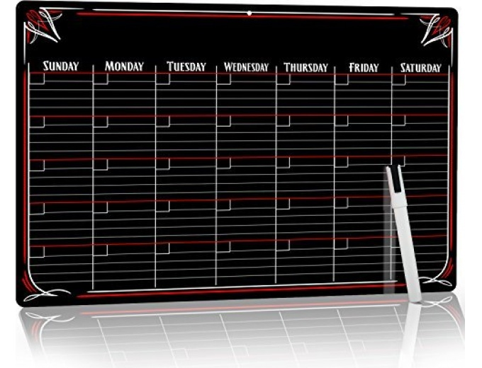 PVC Dry Erase Monthly Magnetic Calendar