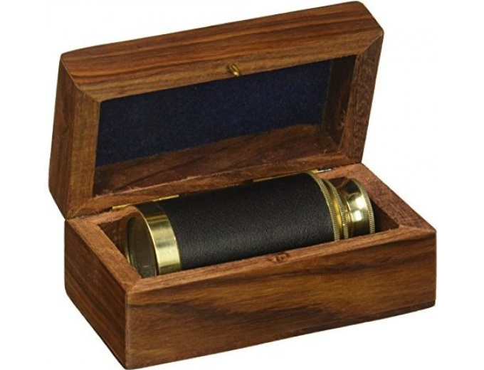 "Pirate 6"" Handheld Brass Telescope"
