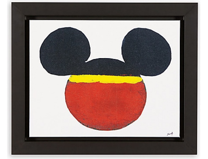 $1,050 off Color Block Mickey Framed Giclée on Canvas