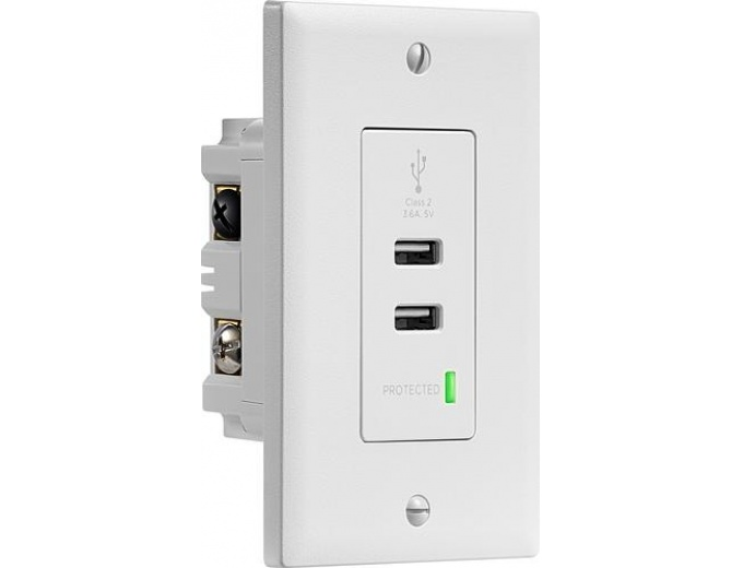 Insignia In-wall 3.6A Surge Protected USB