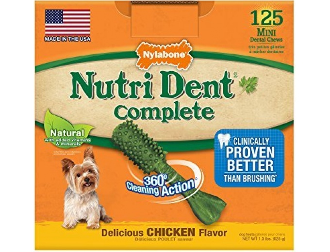 Nutri Dent Adult Chicken 125ct Mini