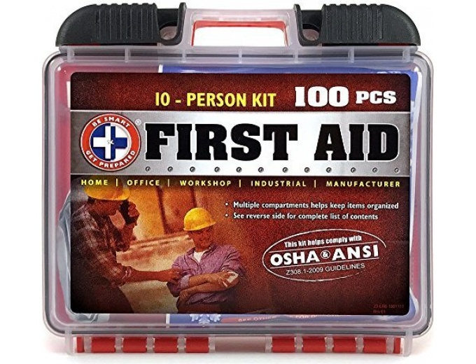 Get Prepared 100 Pc First Aid Kit