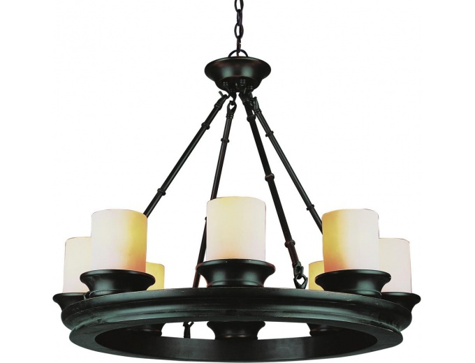 Bel Air Rook Rubbed Oil Bronze Chandelier
