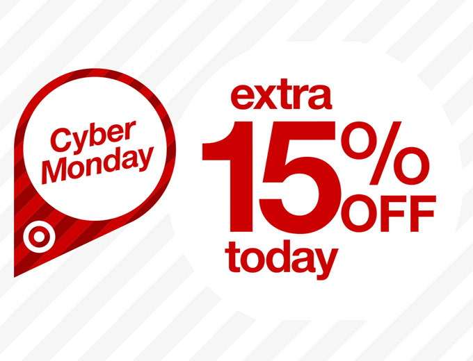 Extra 15% off at Target for Cyber Monday