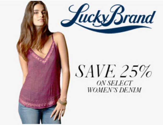 Save 25% off Women's Lucky Brand Jeans