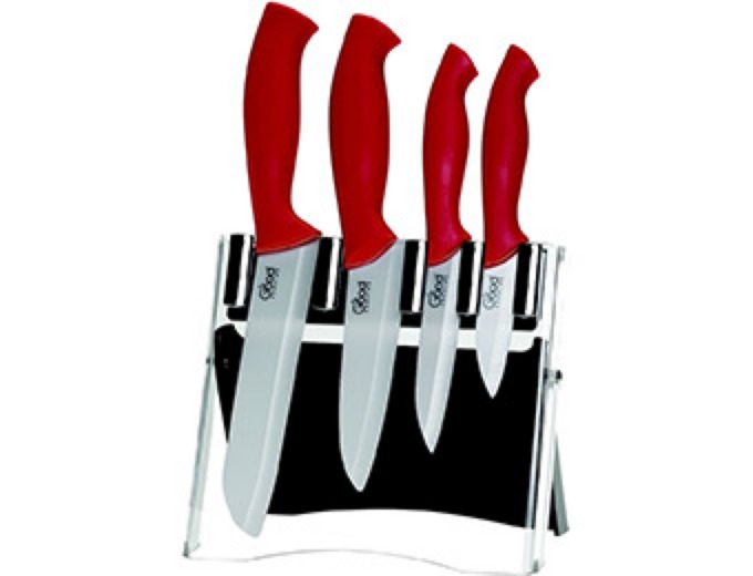 Good Cooking 5 Pc Ceramic Knife Set