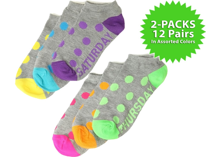 Rampage 12 Pair Ankle Socks