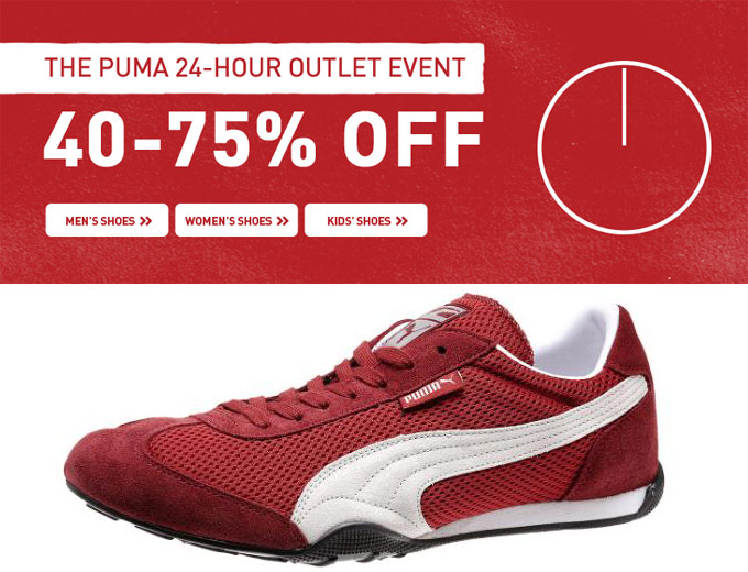 Puma 24-Hour Outlet Event - 40-75% off