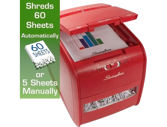 Swingline Stack-and-Shred 60-Sheet Shredder