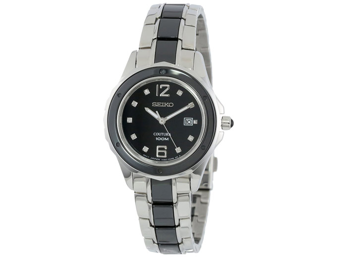 Seiko SXDF01 Analog Two Tone Womens Watch