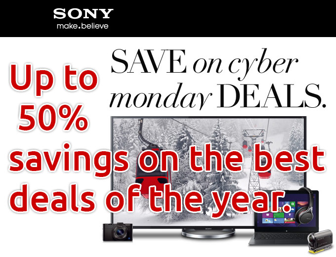 Sony Store Cyber Monday Deals