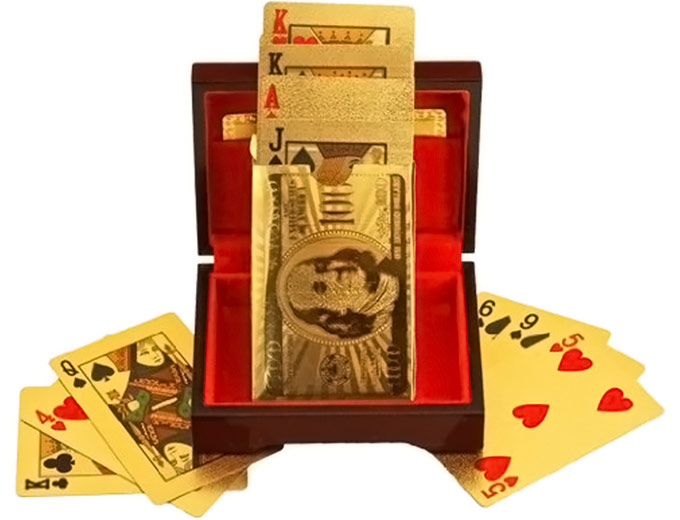 24 Carat Gold-Plated Playing Cards