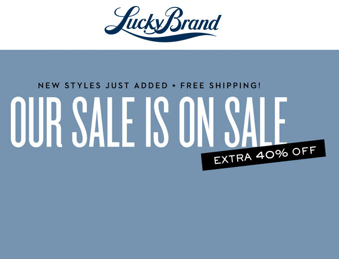 Extra 40% off Sale Items at Lucky Brand