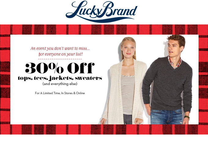 Regular Priced Styles at Lucky Brand