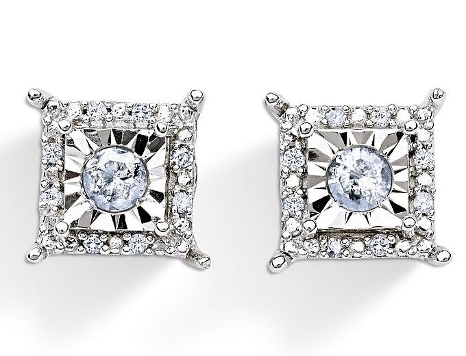 1/4 Cttw. Diamond Sterling Silver Studs