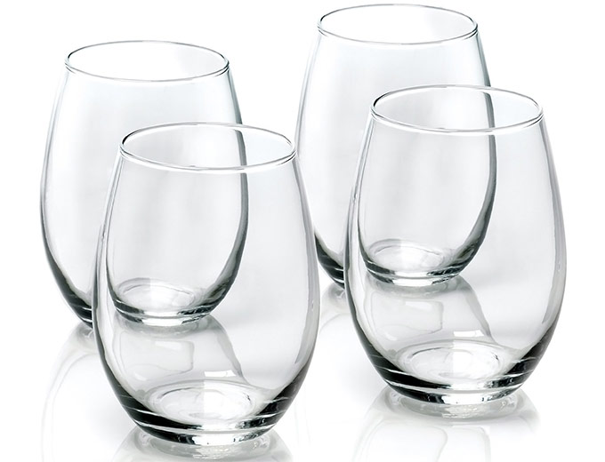 Anchor Hocking 4-Pc Stemless Wine Glass Set