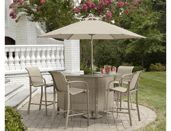 73% off Stegner Patio Furniture Bar Table Set, $53 + Free Pickup