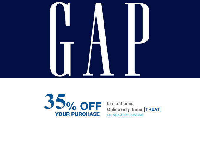 Extra 35% off Your Purchase at Gap.com