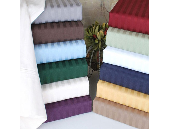 Embossed Dobby Striped 90GSM Sheet Sets