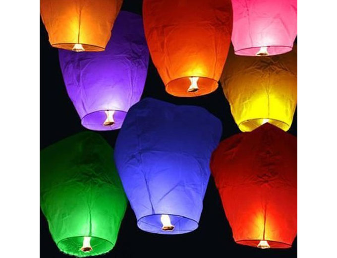 20 Chinese Sky Fly Fire Lanterns