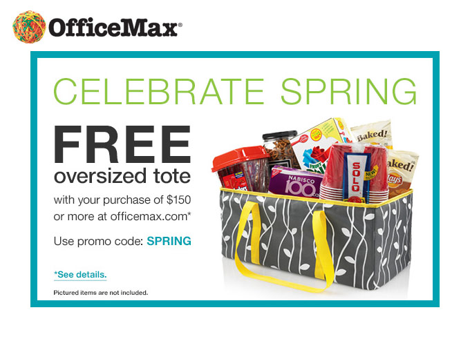 Free Oversized Tote w/ $150+ Orders at Office Max