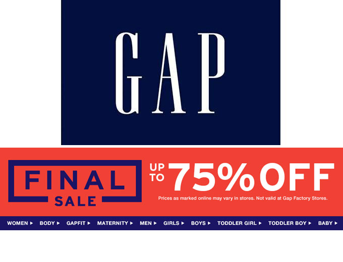 Gap Final Sale - Up to 75% off